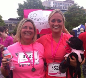 Pinny & Paws ran the race for life and raised £400 for cancer research